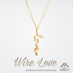 「LOVE WIRE」ネックレス 送料無料 / K18GP / 18K仕上げ レディース アクセ・ジュエリー new