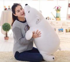 プレミアム抱きまくら シロクマ ふわふわ抱き枕 熊ぬいぐるみ75cm