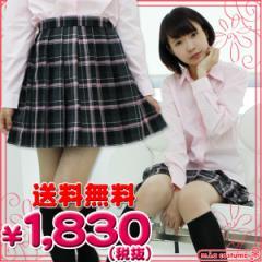 ■送料無料■即納!特価!在庫限り!■ チェック柄プリーツスカート単品 色:黒×グレー×ピンク サイズ:M/BIG