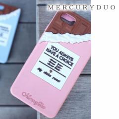 【ポイント3倍】MERCURYDUO マーキュリーデュオ 【6/6S/7対応】Chocolate シリコンiPhoneケース【2017S/S】【入荷!】