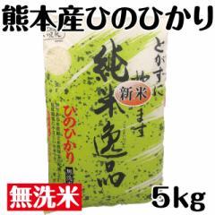 新米 純米逸品ひのひかり 無洗米 全国送料無料 28年産 100%熊本産 5kg×1袋 ヒノヒカリ 100%