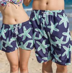 ビーチパンツ カップルお揃い 海パン サーフパンツ 短パン 星柄 ボードショート パンツ 体型カバー 水着 ショートパンツ トランクス