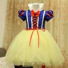 送料無料 ドレス 女児 スカート 白雪姫 コスプレ お姫様 チュール プリンセス 子供用 ワンピース 仮装 ドレス セレモニードレス