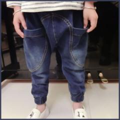 子供服 キッズ ジュニア 子供 ズボン 長ズボン パンツ ロング デニム ジーンズ ジーパン kd1377