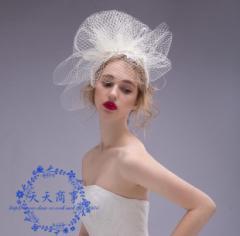 人気 ウェディングハット 花嫁 ヘッドドレス 貴族風  結婚式 ブライダル ヘアアクセサリー  パーティーハット 髪飾り 帽子  披露宴 03