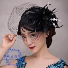 ウェディングハット 安い 結婚式 花嫁  大人気 ブライダル ミニハット  ヘアアクセサリー  パーティーハット 髪飾り 帽子  披露宴  95