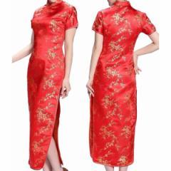 コスプレ衣装 チャイナドレス 赤 XXLサイズ