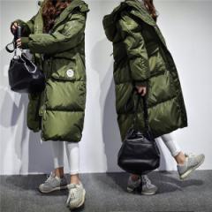 ダウンコート レディース アウター コート ロングコート 大きいサイズ フード付 ダウンジャケット 秋 冬 防寒 アウター