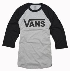 バンズ Tシャツ メンズ 七分袖 カットソー ロゴ ラグラン  vans 正規 vn0a2z2fft6 クルーネック