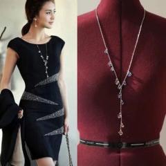 コーディネート ネックレス カジュアル  38cm 51cmフォーマル 女性  アクセサリー ガールズ ジェリー necklace  ダイヤモンドような輝き