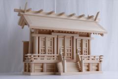 匠造り ■ 木曽ひのき ■ 極厚板屋根 ■ 横通し屋根 三社 大型 ■ 真鍮の輝き 神棚