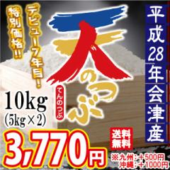 平成28年 会津産 天のつぶ 白米 10kg(5kg×2)※...