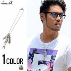CavariA【キャバリア】ホイール付き 金爪 ビッグフェザー ネックレス /全1色 trend_d メンズ ビター系