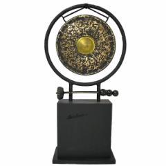【送料無料】ゴング 銅鑼 台付き[どら直径24.5cm] アジアン雑貨 バリ雑貨 タイ雑貨 スパエステ用品