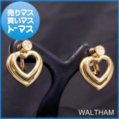 新品仕上げ済★ウォルサム イエローゴールド ダイヤモンド ハートモチーフ スウィング イヤリング WALTHAM アクセサリー レディース