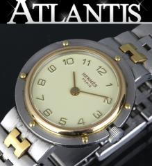 エルメス クリッパー レディース 腕時計 クォーツ アイボリー文字版