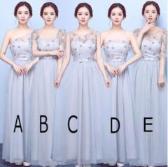 ブライズメイドドレス お花嫁 刺繍 カラー ウェディングドレス パーティードレス 司会者 二次会 プリンセスライン 披露宴 ロングドレス