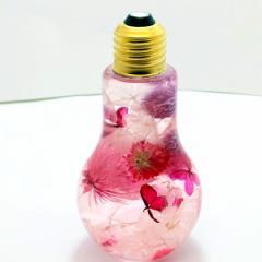 フラワー ハーバリウム Lサイズ フレンチピンク〜見つめているだけで癒される〜 可愛いギフト