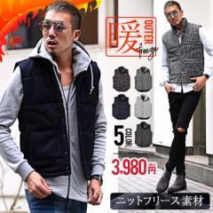 ベスト メンズ 中綿ベスト ニットベスト フリース フリースベスト 秋  メンズファッション おしゃれ ブラック ネイビー グレー trend_d