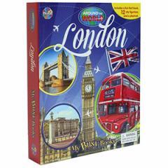 (英語版)海外書籍 「London - Around the World My Busy Book(ロンドン 世界都市 マイ ビジーブック)」 (本+ミニフィギュア12種)