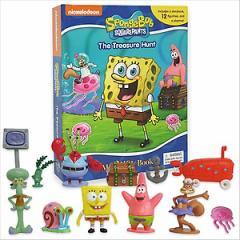 (英語版)海外書籍 「Spongebob:My Busy Books(スポンジ・ボブ マイ ビジーブック)」 (本+ミニフィギュア12種)