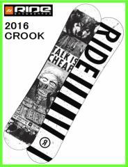 2016 RIDE CROOK 152cm ライドスノーボード ツインロッカーフリースタイルボード