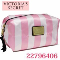 ヴィクトリアシークレット/VICTORIAS SECRET  ナイロンマルチポーチ  ピンクストライプ 22796406