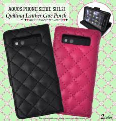 AQUOS PHONE SERIE SHL21 ケース キルティング 格子柄 レザーケース 手帳型ケース スマホケース カバー アクオスフォン shl21