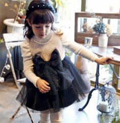 韓国女の子ドレス 子供服衣装 キッズ ワンピース長袖フォーマル イベント 裏起毛 結婚式 入園式 七五三 秋冬服