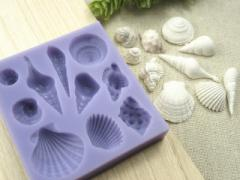 貝殻 シェル 10種類 シリコンモールド アロマハイストーン 石粉 樹脂 粘土 UV レジン 石鹸 アクセサリー パーツ