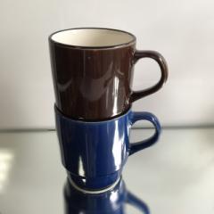 マグカップ アウトレットお買い得 スタッキング  ブルー ブラウン  美濃焼 マグカップ 日本製 セール 和食器