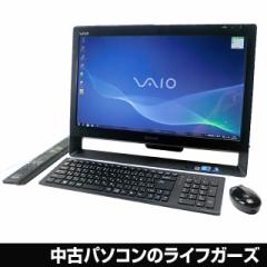 SONY VAIO 液晶一体型PC Windows7 64bit Core i5 RAM4GB HDD1TB 21.5型ワイド ブルーレイ 無線LAN 地デジ office VPCJ118FJ 中古PC 647