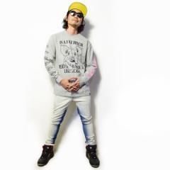 売切必至の大人気!LEFLAH レフラーの存在感抜群プリントのTシャツを使用したストリートスタイル。