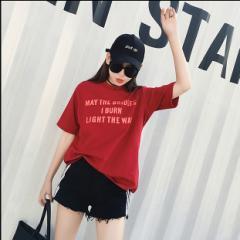 大きいサイズ レディース/英字ロゴ  Tシャツ トップス 春 新作/おおきいサイズ/3ST【予約】yomhh-28612