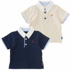 ベビー服 Tシャツ 男の子 女の子 ポロシャツ ドット半袖ポロシャツ 赤ちゃん 服 ベビー服 出産お祝い ギフト ポロシャツ 半袖