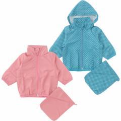 ベビー服 女の子 男の子 パーカー きんちゃく袋付き!水玉フード付きウィンドブレーカー ベビー 服 赤ちゃん 羽織り