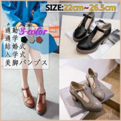 大きいサイズ 靴 レディース 26cm/美脚 婦人靴 チャンキーヒール 春秋パンプス/太
