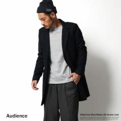 チェスターコート メンズ Audience オーディエンス メルトン ウール ロングコート ピュアウールメルトン 6141 【pre_d】