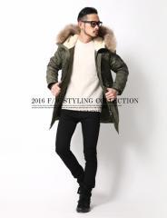 冬の大定番!究極の防寒服と名高いN-3Bミリタリーモッズコート◆中綿ジャケット メンズ ツイルM&S【コーデ】