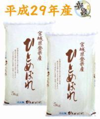 【出荷当日精米】【送料無料】28年産 宮城県登米市産 ひとめぼれ 無洗米 10kg (5kg×2) ポリ袋仕様