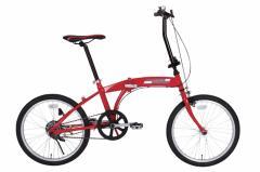 【送料無料】【代引き不可】 フェラーリ 折りたたみ自転車 26インチ「ニューモデル」 Ferrari Fサス FD-MTB26 6S(レッド)