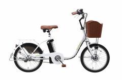 【送料無料】【代引き不可】 電動アシスト自転車 ミムゴ 20インチ電動アシスト軽快車 SUISUI スイスイ KH-DCY700 ホワイト・ブラウン