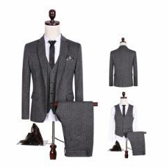 期間セール/紳士用★3ピーススーツ/スリーピーススーツ メンズ スーツ 3点 スーツセット セットアップ M-5XL 細身 スリム