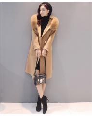 2017 冬 コート ダッフルコート レディース ファーコート フェイクファー コートスファー アウター コート ロング 帽子付き 可愛い