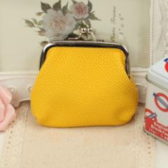 ★カラー★上品な・・がま口財布◆イエロー◆箱付き 1308
