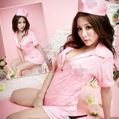 即納 ピンク色 コスプレ衣装 ナース服  コスチュ...