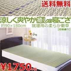 い草 カーペット ラグ 1畳 / 寝ござ / シングル い草シーツ 約90×180cm クール 【 送料無料 】