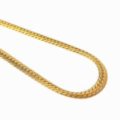 メンズ ネックレス18金 メッキ 6 mm Wide Snake Chain Necklace ゴールド 高級ケース付き