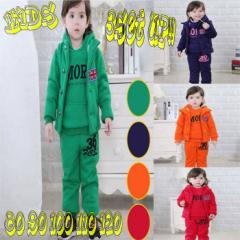 【お届けに10日から14日程頂きます。】KIDS キッズ 子供服 パーカー ベスト ズボン 3点セット スウェット YEE-TB76 80〜120