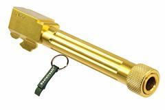 5KU 製 CNC アルミアウターバレル (14mm逆ネジ) 東京マルイ GLOCKグロック G17用 タイプB ゴールド